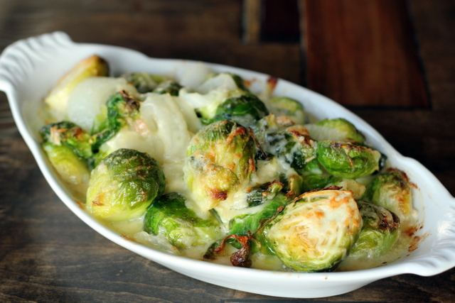 Roasted Brussels Sprouts with Vanilla-Pecan Butter