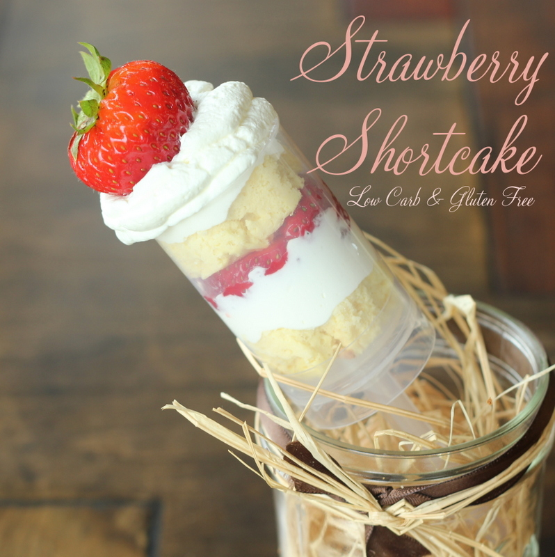 low carb strawberry shortcake, gluten free shortcake