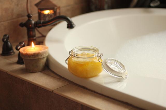 Homemade bath scrub