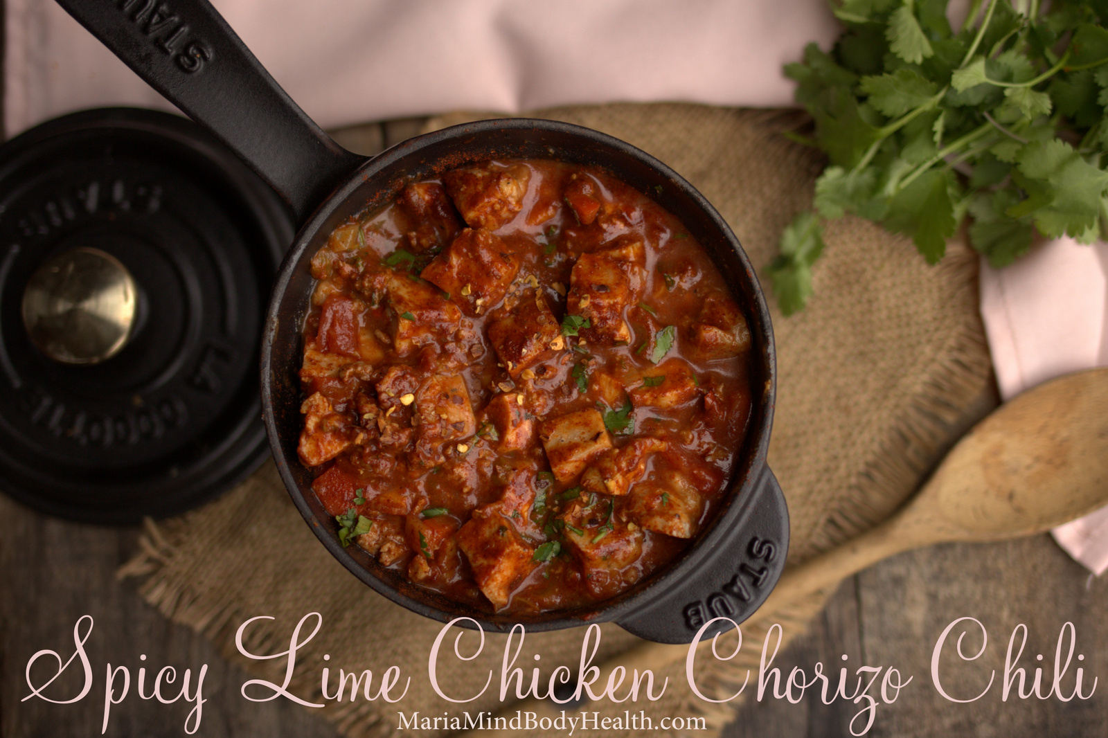 Spicy Lime Chicken Chorizo Chili