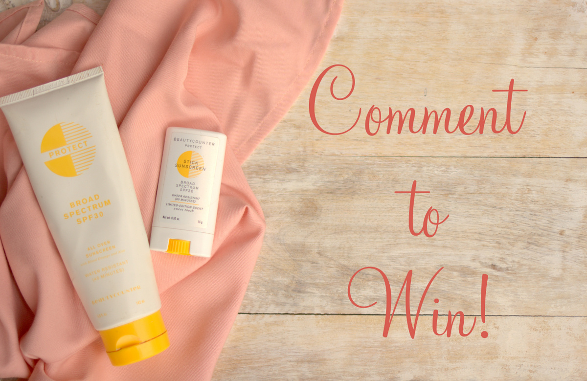 BeautyCounter Sunscreen Giveaway