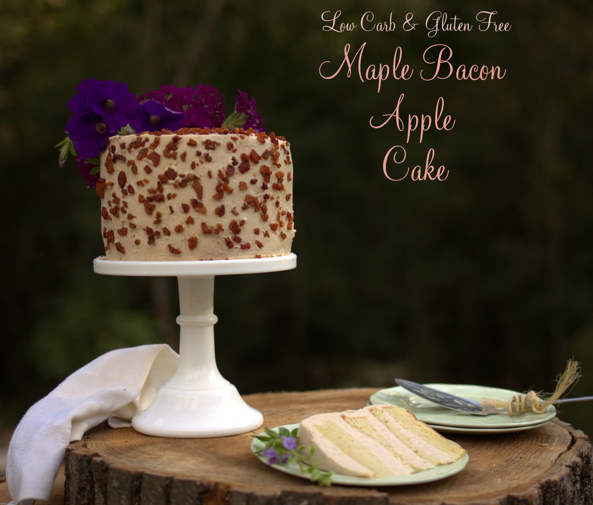 Maple Bacon Apple Cake