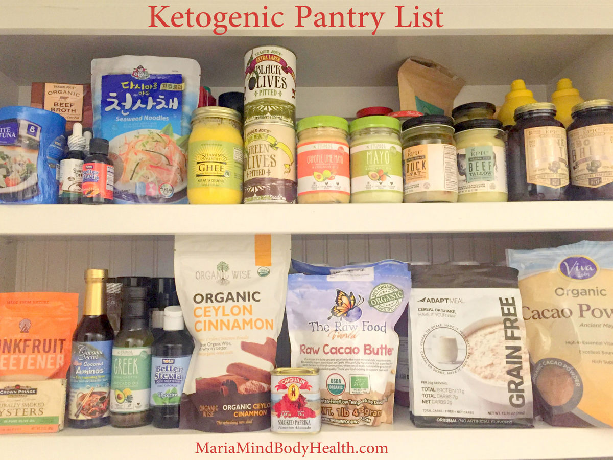 Ketogenic Pantry List
