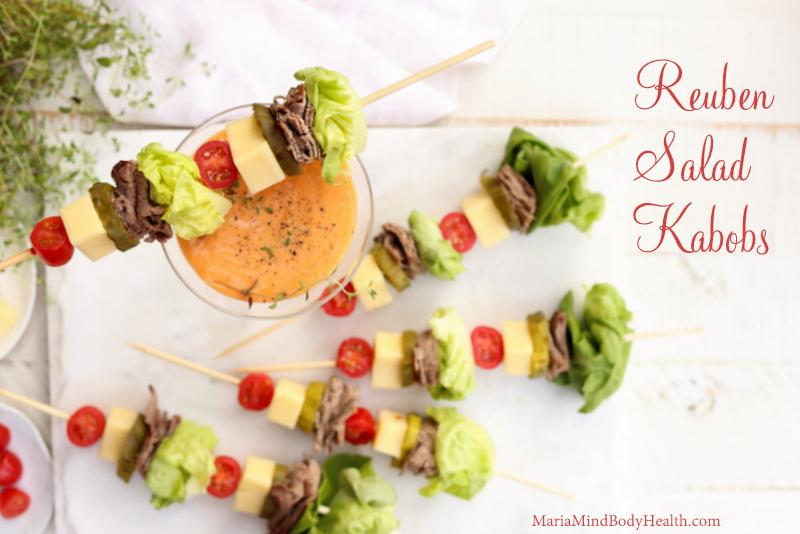 Reuben Salad Kabobs