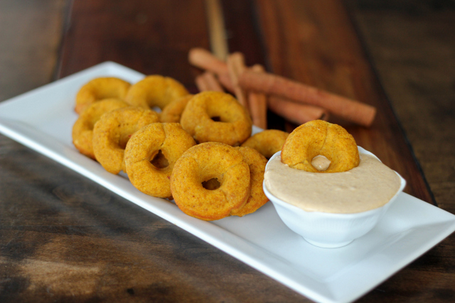 Pumpkin Donuts with Pumpkin Glaze