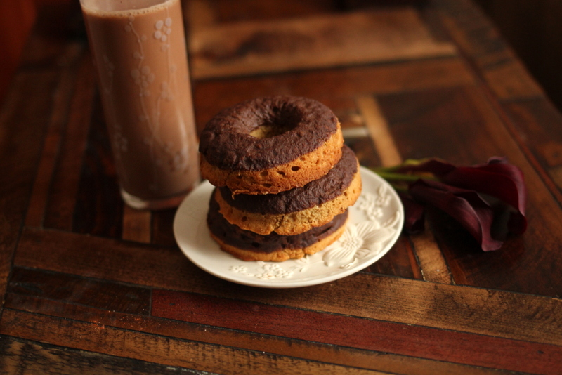 Chocolate PB Dipped Donuts