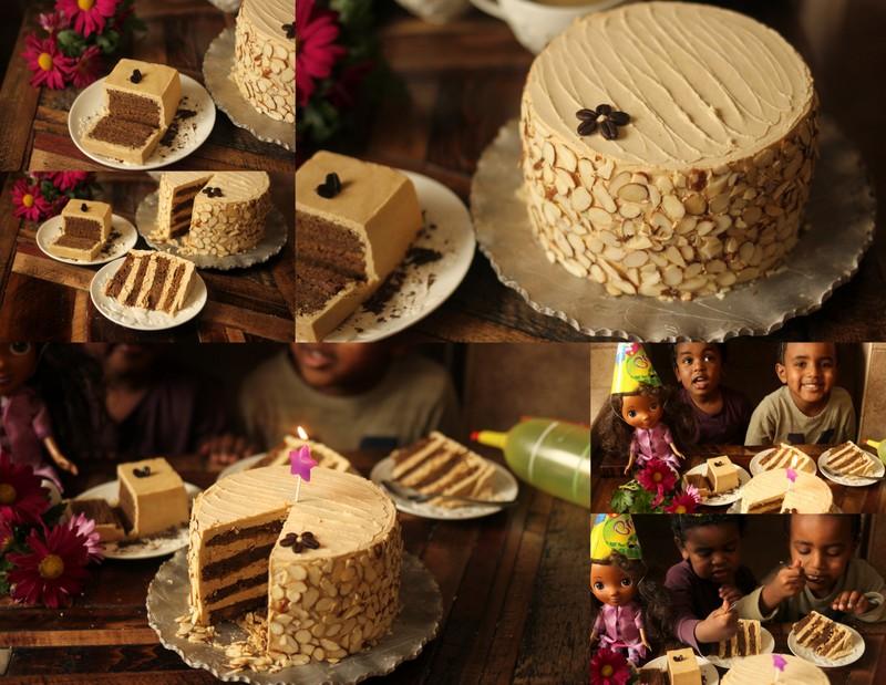Groovy Almond Roca Mocha Cake Low Carb Chocolate Cake Gluten Free Cake Personalised Birthday Cards Sponlily Jamesorg