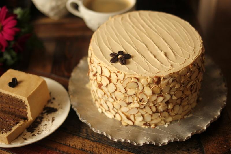 Almond Roca Mocha Cake