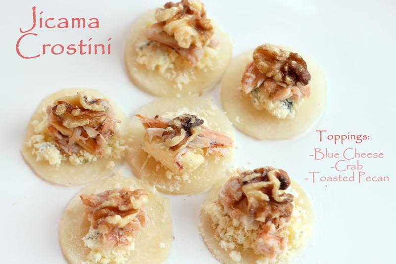 Jicama Crostini