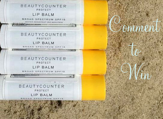 BeautyCounter Sun Protector Lip Balm Giveaway