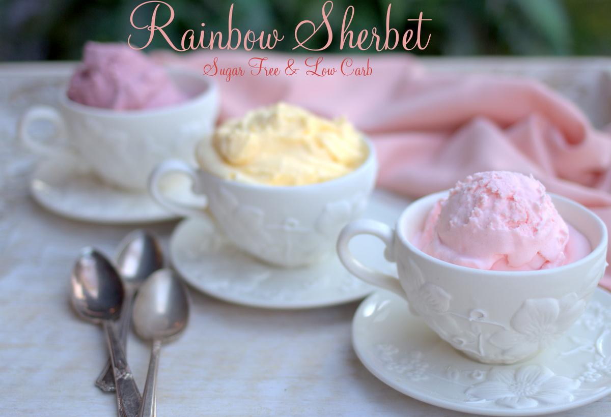 Rainbow sherbet, sugar free sherbet