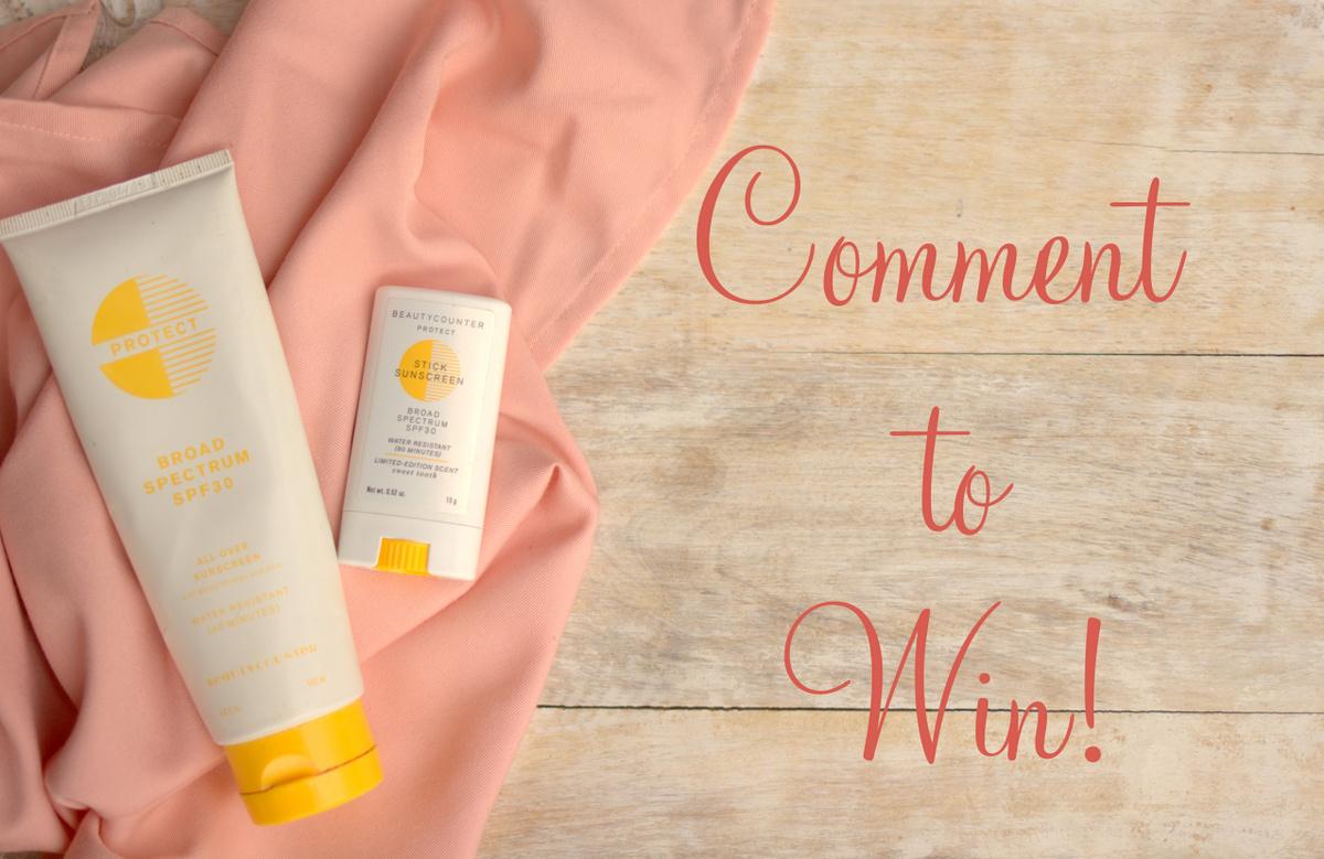 BeautyCounter Sunscreen Giveaway