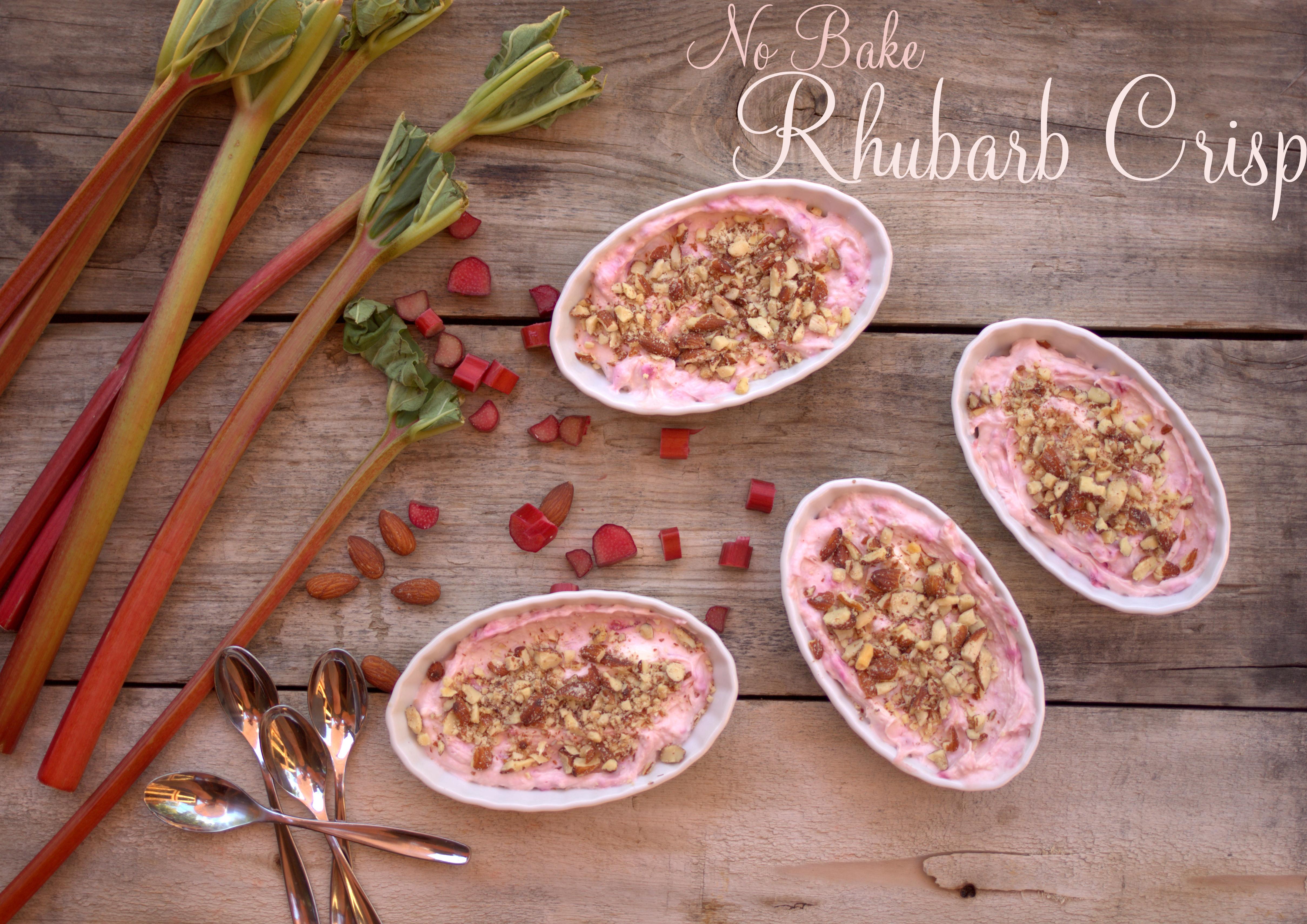 No-Bake Rhubarb Crisp